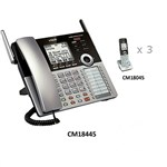 VTech CM18445 plus (3) CM18045 4 Line Corded / Cordless Phone