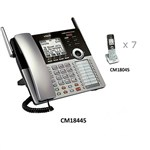 VTech CM18445 plus (7) CM18045 4 Line Corded / Cordless Phone