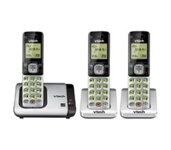 VTech three handset phones vetch cs6719 3