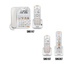 2 Handsets Phones with an Answering Machine vetch sn6147 sn6307 sn6107