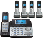 VTech DS6151 (4) DS6101 2 Line Expandable cordless phone