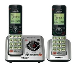 2 Handsets Phones with an Answering Machine vtech cs6629 2