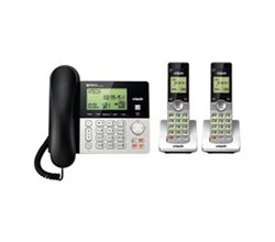 Corded/ Cordless Phones vtech cs6949 2 3 handset corded cordless phones