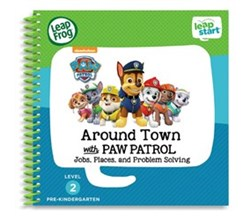 Vtech Reading Systems leapstart around town with paw patrol book by vtech