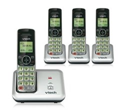 VTech four handset phones vetch cs6619 3 CS6609